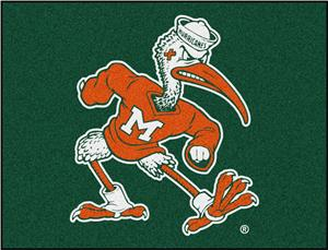 Fan Mats Miami Hurricanes All-Star Mat