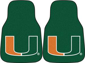 Fan Mats University of Miami Carpet Car Mats (set)