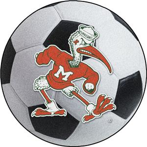 Fan Mats Miami Hurricanes Soccer Ball Mat