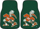 Fan Mats Miami Hurricanes Carpet Car Mats (set)