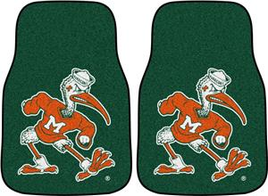 Fan Mats Miami Hurricanes Carpet Car Mats (set)