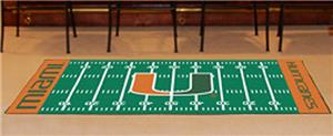 Fan Mats University of Miami Football Runner
