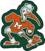 Fan Mats Miami Hurricanes Mascot Mat