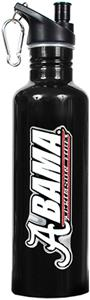 NCAA Alabama Crimson Tide Black Water Bottle