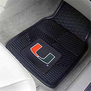 Fan Mats Univ of Miami Vinyl Car Mats (set)