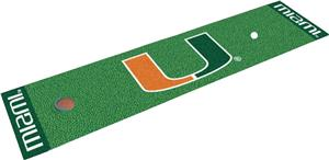 Fan Mats University of Miami Putting Green Mat