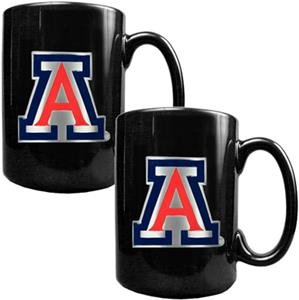 NCAA Arizona Wildcats Black Ceramic Mug (Set of 2)