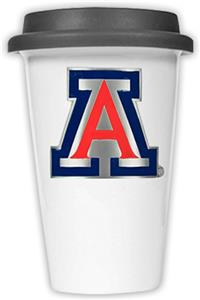 NCAA Arizona Wildcats Ceramic Cup with Black Lid