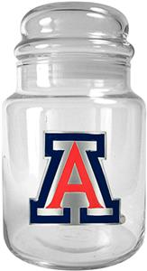 NCAA Arizona Wildcats Glass Candy Jar
