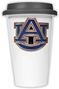 NCAA Auburn Tigers Ceramic Cup with Black Lid