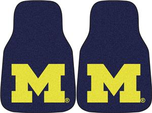 Fan Mats Univ of Michigan Carpet Car Mats (set)