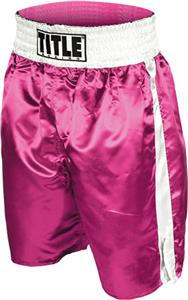 Title Boxing Pink Professional Boxing Trunks