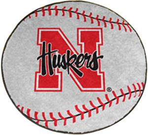 Fan Mats University of Nebraska Baseball Mat