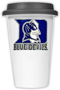 NCAA Duke Blue Devils Ceramic Cup w/Black Lid