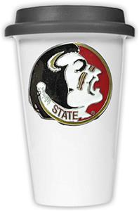 NCAA Florida State Ceramic Cup w/Black Lid