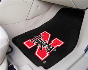 Fan Mats Univ of Nebraska Carpet Car Mats (set)