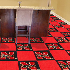 Fan Mats University of Nebraska Team Carpet Tiles