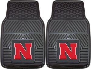 Fan Mats University of Nebraska Vinyl Car Mats
