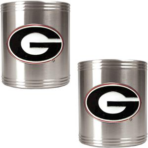 NCAA Georgia Bulldogs Stainless Steel Can Holders