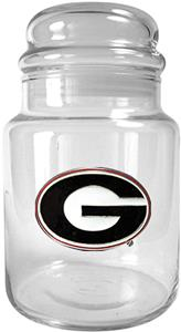 NCAA Georgia Bulldogs Glass Candy Jar