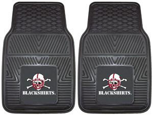 Fan Mats Nebraska Black Shirts Vinyl Car Mats
