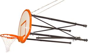 Gared 4 Point Side Fold Basketball Goal Wall Mount