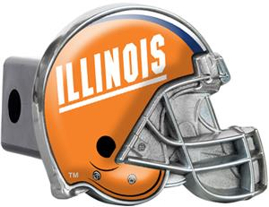 NCAA U of Illinois Helmet Trailer Hitch Cover