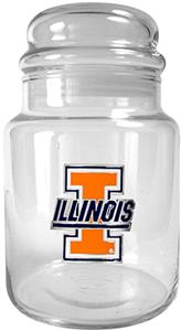 NCAA Illinois Fighting Illini Glass Candy Jar