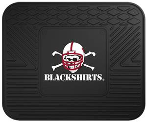 Fan Mats Nebraska Black Shirts Utility Mats
