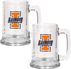NCAA Illinois Fighting Illini 15oz Glass Tankard