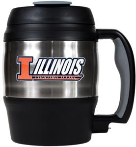 NCAA U of Illinois 52oz Macho Travel Mug