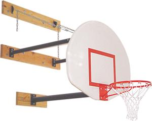 Gared 3 Pt Wall Mount Basketball Backstops