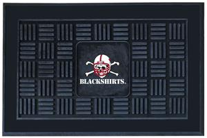 Fan Mats Nebraska BlackShirts Medallion Door Mat