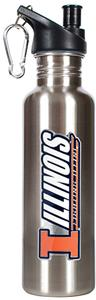 NCAA U of Illinois Stainless Water Bottle