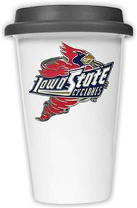 NCAA Iowa State Cyclones Ceramic Cup w/Black Lid
