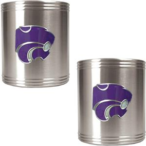 NCAA Kansas State Stainless Steel Can Holders