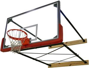 Gared 4 Pt Wall Mount Basketball Backstops
