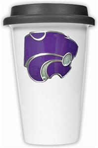 NCAA Kansas State Wildcats Ceramic Cup w/Black Lid