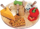 Picnic Plus Salerno Wooden Lazy Susan Cheese Board