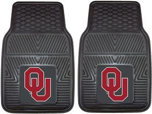 Fan Mats Univ of Oklahoma Vinyl Car Mats (set)