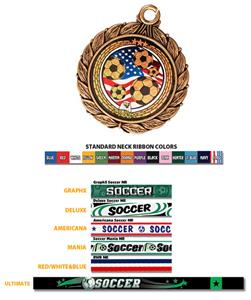 Eagle Mylar Soccer Medal & Ribbon #8501