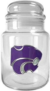 NCAA Kansas State Wildcats Glass Candy Jar