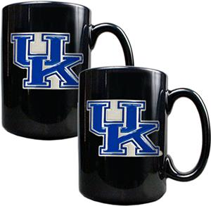 NCAA Kentucky Black Ceramic Mug (Set of 2)