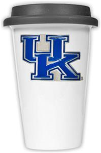 NCAA Kentucky Wildcats Ceramic Cup w/Black Lid