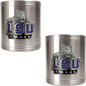 NCAA LSU Tigers Stainless Steel Can Holders
