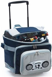 Picnic Plus Cooladio Cart AM/FM Radio Cooler