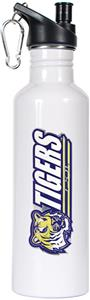 NCAA LSU Tigers White Water Bottle