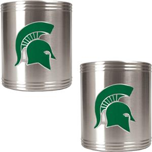 NCAA Michigan State Stainless Steel Can Holders