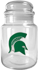 NCAA Michigan State Spartans Glass Candy Jar