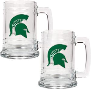 NCAA Michigan State Spartans 15oz Glass Tankard